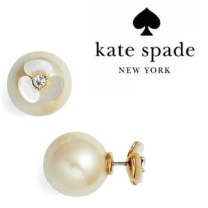 ♠️Kate Spade♠️ Disco Pansy Reversible Earrings